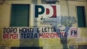 Forza Nuova: Renzi, PD trova sorpresa a Crotone