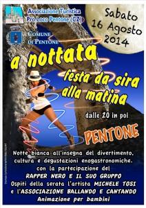 """Pentone  – Sabato 16 agosto """"A Nottata"""", arte, musica, cultura e divertimento per la notte bianca"""