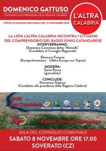 """Elezioni Regionali – La lista """"L'Altra Calabria"""" incontra i cittadini a Soverato"""