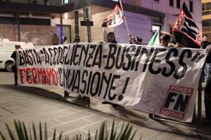 Catanzaro – Presidio di protesta di Forza Nuova contro le politiche pro-immigrazione