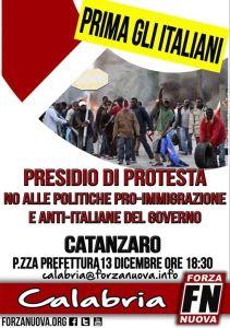 Catanzaro – Presidio regionale di protesta di Forza Nuova Calabria
