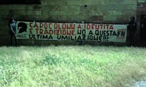 Forza Nuova a Capo Colonna per dire basta alla cementificazione