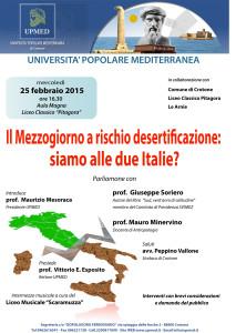 Il Mezzogiorno a rischio desertificazione: siamo alle due Italie?