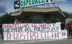 Lamezia Terme – Presidio davanti all'Ospedale contro la chiusura del reparto di Pediatria