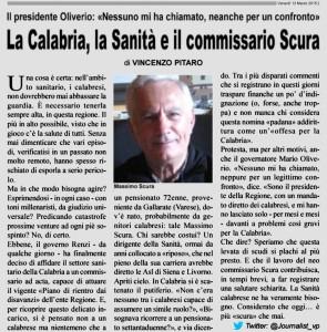La Calabria, la Sanità e il commissario Scura