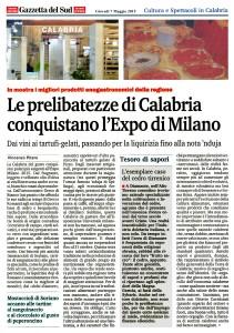 Le prelibatezze di Calabria conquistano l'Expo di Milano