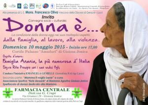 """Gioiosa Jonica – Domenica 10 Maggio il convegno """"Donna è…"""""""